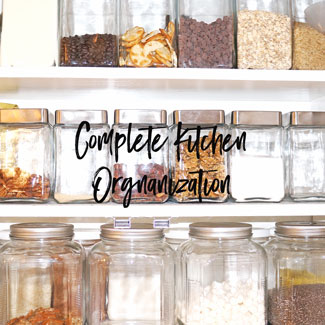 Complete Kitchen Organization