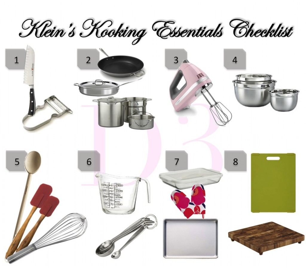 Cooking Essentials Checklist