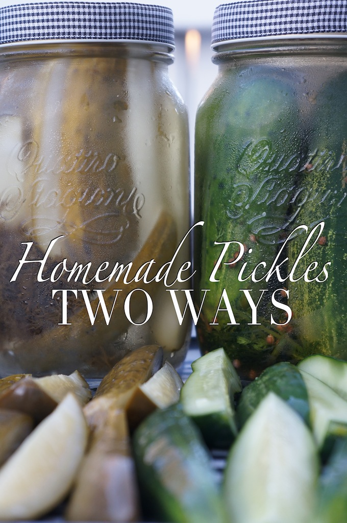 Homemade Pickles – Two Ways