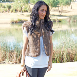 Faux Fur Vest Featured