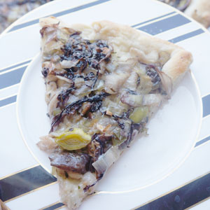 Mushroom and Leek Pizza 4