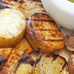Grilled Potatoes with a Scallion Drizzle